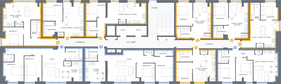 2nd-10th floors floorplan