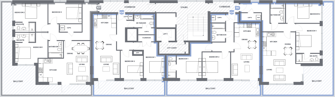 The penthouses floorplan